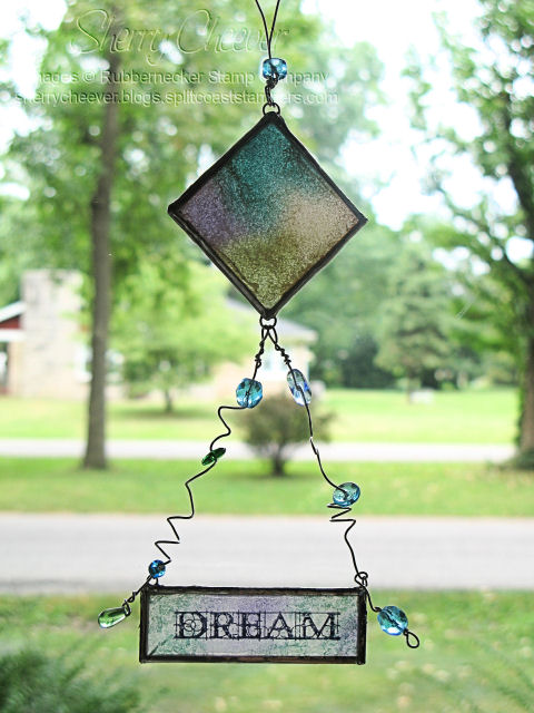 Faux Sea Glass Sun Catcher Door