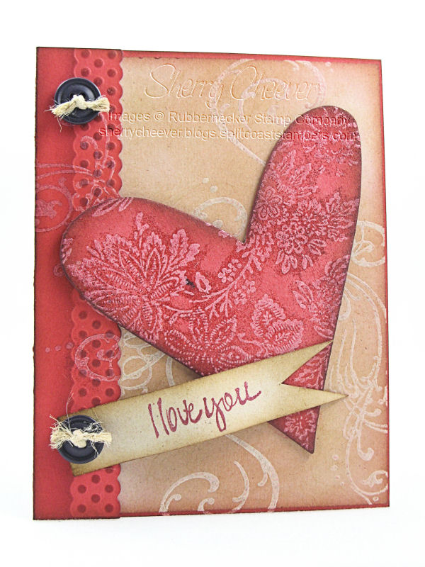 RN White Floral Chipboard Heart