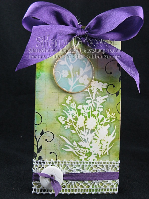 Alcohol Ink Faux Bleach Tag