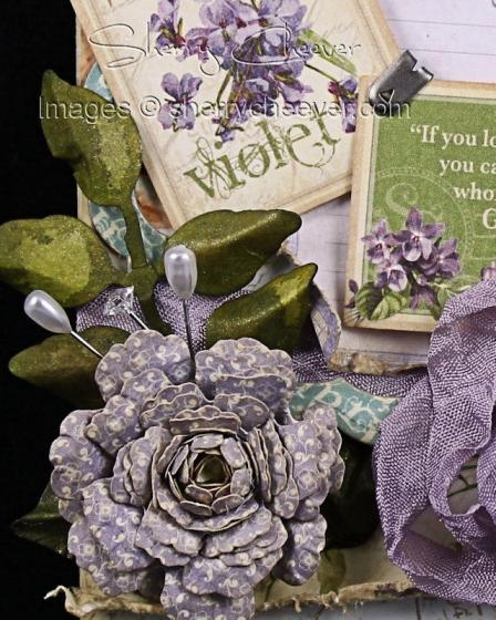 G45VioletWallPlaque Flower